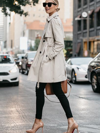 elegant style with trench